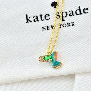 Kate Spade Zircon Enamel Glaze Hummingbird Necklac